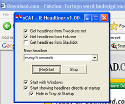 IE Headliner screenshot