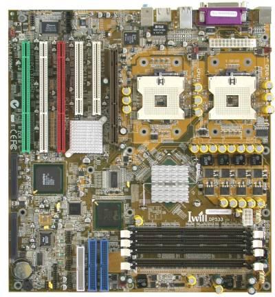 Iwill DP533 Intel 7505 moederbord