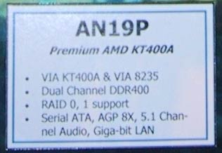 KT400A moederbord specs (dual channel DDR)
