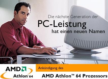 AMD Athlon 64 logo met Duitse meneer