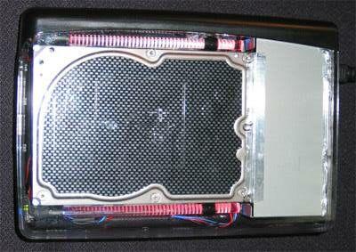 Western Digital externe doorzichtige prototype behuizing