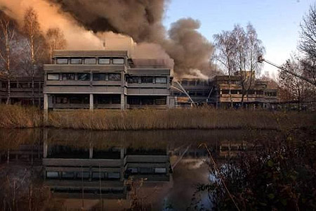Universiteit Twente in brand