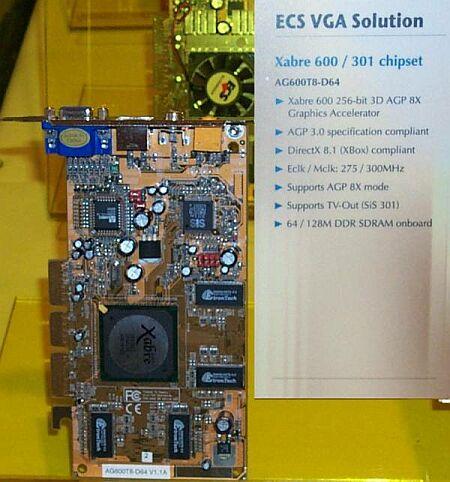 ECS AG600-T8-D64 (Xabre 600) videokaart