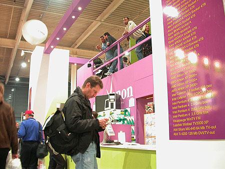 HCC Dagen 2002 fotoverlsag: Xenon Webstore stand