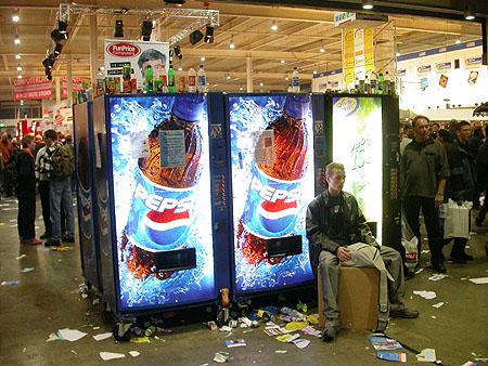 HCC Dagen 2002 fotoverslag: cola automaten