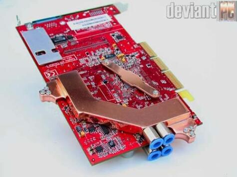DeviantPC Radeon9700 watergekoeld (achterzijde)