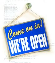 Open source (come on in, we're open!)