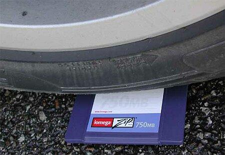 Datacompressietest ZIP-diskette