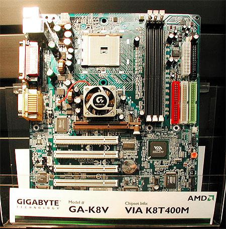 Gigabyte GA-K8V Socket 754 moederbord