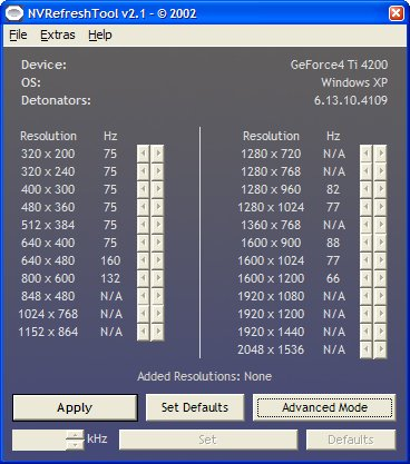NVRefreshTool 2.1 screenshot