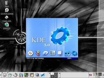 Knoppix 3.1 default desktop