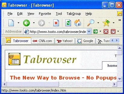 Tabrowser screenshot