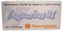 Thermaltake Aquarius II Liquid Cooling logo