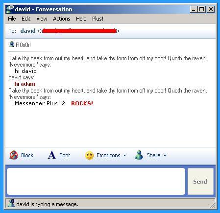 Messenger Plus! 2.0 screenshot