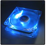 Casefan met blauwe LED'jes, behorende bij ThermalTake SubZero4G