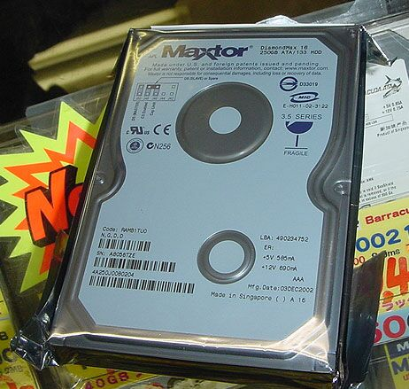 Maxtor 250GB harddisk