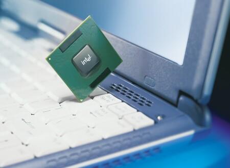 Mobile Pentium 4-M met laptop