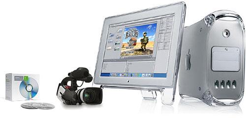 Apple PowerMac met LCD display en camera (groot)