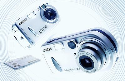 Digitale camera's van Sony en Memory Stick Pro van 1GB