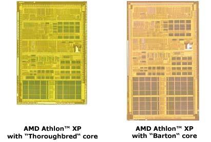 Verschil in cores bij Athlon XP (Barton en T-Bred)