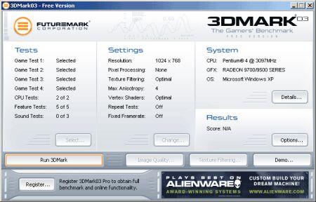 3DMark menu (klein)