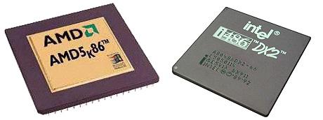 AMD K5 en Intel 486DX2