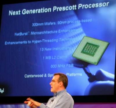 Intel Prescott presentatie