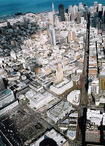 Vredesbetoging San Fransisco 16 februari 2003