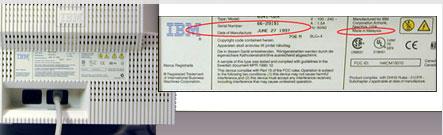 Label met serienummer achterzijde IBM G51/G51t