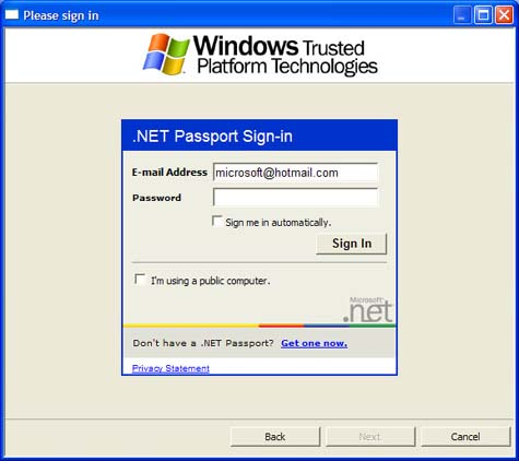 Microsoft Information Rights Management screenshot