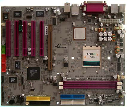 Soyo moederbord met ALi-chipset voor de Athlon 64