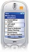 Orange Smart phone with inbox
