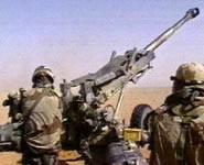 Golfoorlog - schietende mannekes