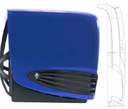 Alienware case zijkant (blauw)