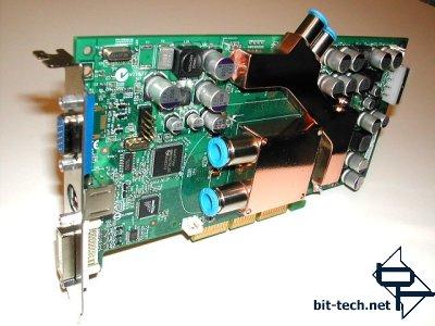 GeForce FX 5800 met waterkoeling (voorkant)