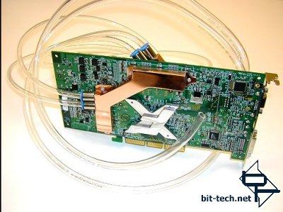 GeForce FX 5800 met waterkoeling (achterkant)