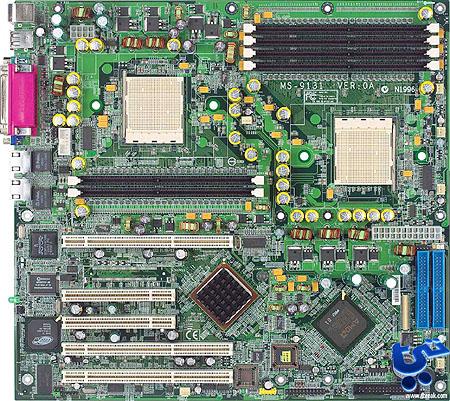 MSI K8D Master dual Opteron moederbord (groot)