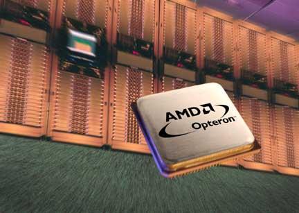 AMD Opteron-processor met server-background