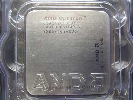 Opteron 242 heatspreader met opdruk