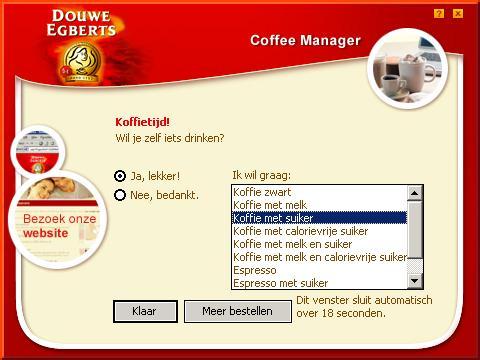 Douwe Egberts Koffiemanager