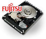 Fujitsu MAP SCSI-harde schijf met Fujitsu-logo (klein)
