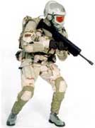 Soldaat met Scorpion-pak