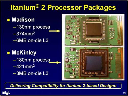 Intel Itanium 2 McKinley en Madison