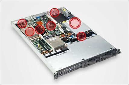 IBM eServer 325 geopend
