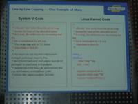 Linux- vs System V-code 1 klein