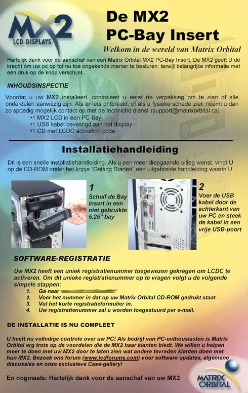 Matrix Orbital MX202 review - installatiehandleiding