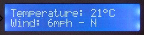 Matrix Orbital MX202 review - Weather info
