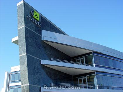 nVidia logo op gebouw