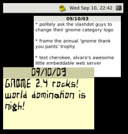 Gnome 2.4 Sticky Notes