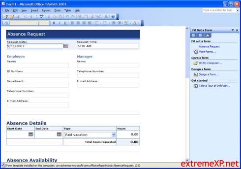 Microsoft Office 2003: InfoPath (klein)